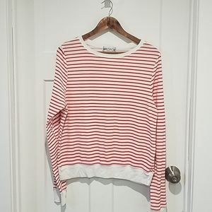 WILDFOX Red and White Striped Thermal Top Large